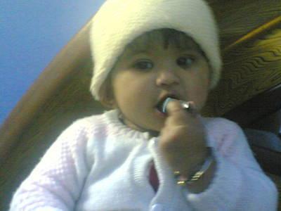 Photograph - Cute Baby by Nikhil Maliwal