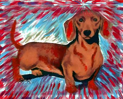 Dachshund Painting - Dachshund by Char Swift