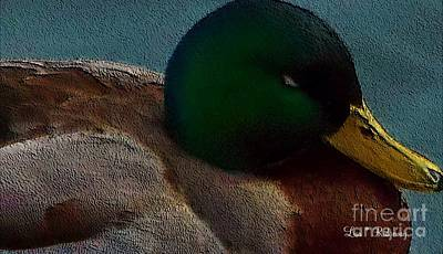 Etc Mixed Media - Dad's Mallard Duck by Lisa  Ridgeway