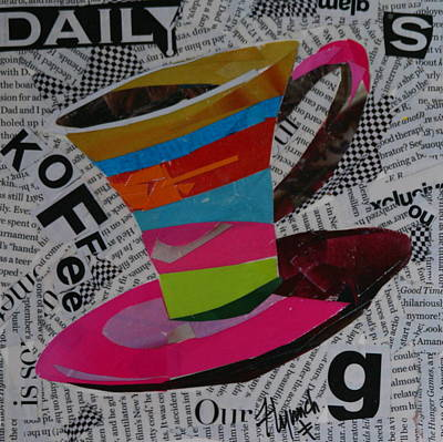 Daily Koffee  Art Print by Lynn Chatman