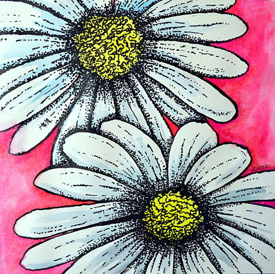 Mixed Media - Daisies by Dion Dior