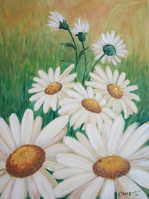 Daisies Art Print by Ema Dolinar Lovsin