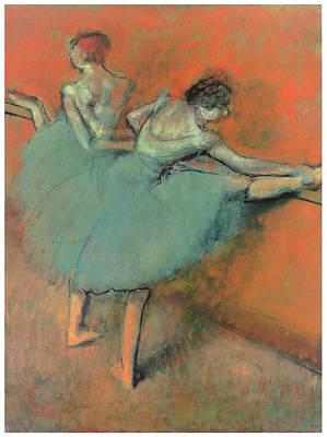 Dancers At The Bar Print by Edgar Degas