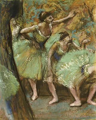 Backstage Pastel - Dancers by Edgar Degas