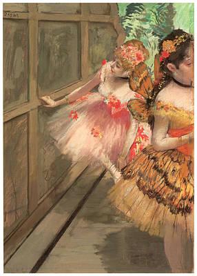 Dancers In The Wings Print by Edgar Degas