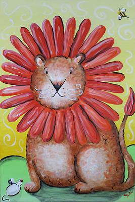Dandy Lion Original by Jennifer Alvarez