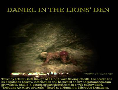 Nanomicroinfinity Art Painting - Daniel In The Lion's Den Info Photo No.1  by Phillip H George