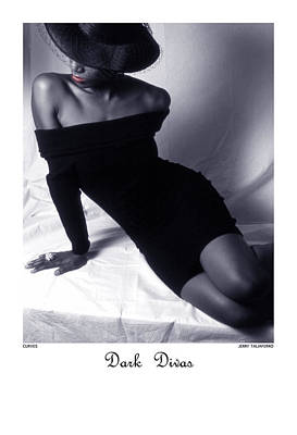 African Women Nude Photograph - Dark Divas - Curves by Jerry Taliaferro