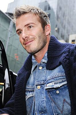 Celebrity Candids - Monday Photograph - David Beckham, Visits Good Morning by Everett
