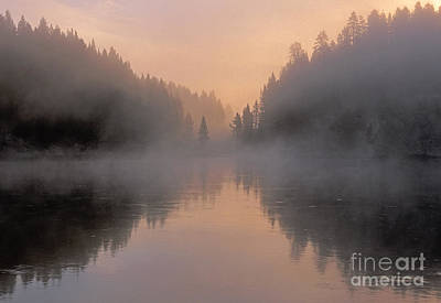 Photograph - Dawn On The Yellowstone River by Sandra Bronstein