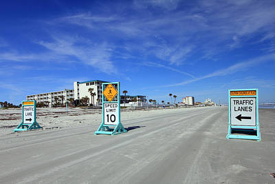Photograph - Daytona Beach Traffic Signs by Mary Haber