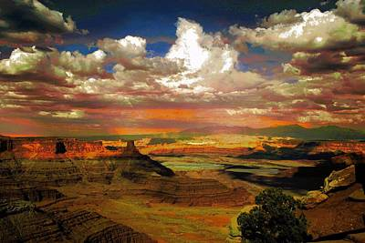 Digital Art - Dead Horse Point Canyon by Carrie OBrien Sibley