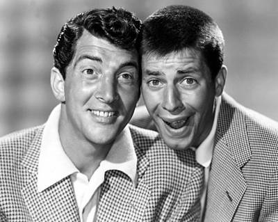Dean Martin And Jerry Lewis, C. Early Art Print by Everett