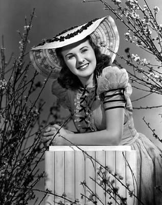 Puffed Sleeves Photograph - Deanna Durbin, 1939 by Everett
