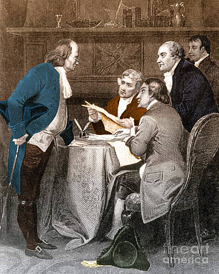 Declaration Committee Art Print by Photo Researchers