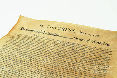 4th July 1776 Photograph - Declaration Of Independence by Photo Researchers, Inc.