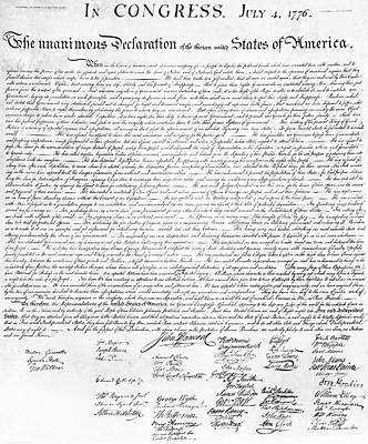 Declaration Of Independence Art Print by Photo Researchers