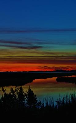 Deep Marshland Sunset Art Print