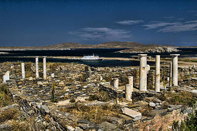 Delos Island Art Print by David Smith