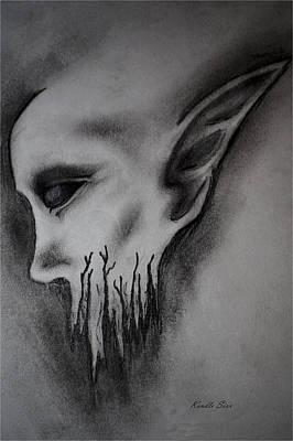 Dead Heads Drawing - Demon by Kendle Sixx