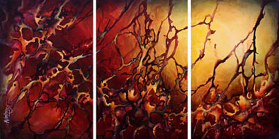 Earth Tones Painting - Design 2 by Michael Lang