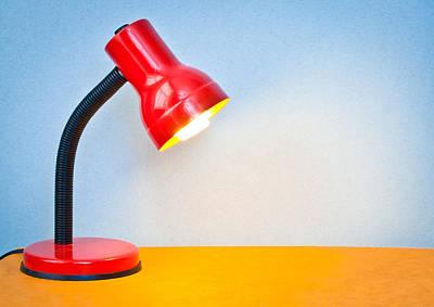 Desk Lamp Art Print by Tom Gowanlock