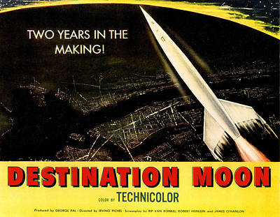 1950 Movies Photograph - Destination Moon, 1950 by Everett