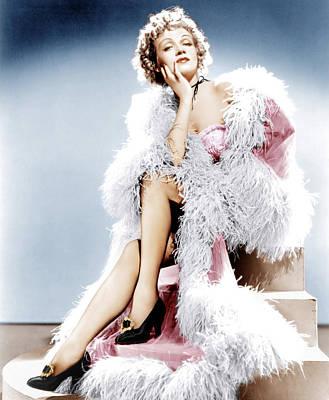 Destry Rides Again, Marlene Dietrich Art Print by Everett