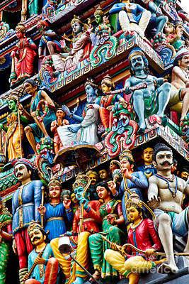 Detail Of Indian Temple Art Print