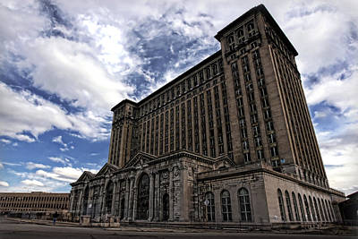 Unsafe Digital Art - Detroit's Abandoned Michigan Central Station by Gordon Dean II