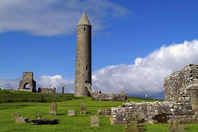 Devenish Monastic Site, Co. Fermanagh Art Print by The Irish Image Collection