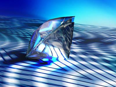 Diamond, Computer Artwork Art Print