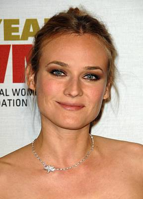 Hair Bun Photograph - Diane Kruger At Arrivals For The by Everett