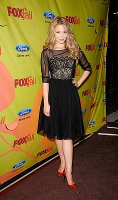 Dianna Agron At Arrivals For Fox Fall Art Print