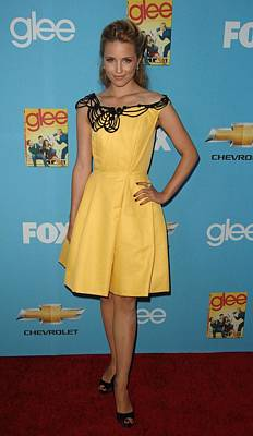 Full Skirt Photograph - Dianna Agron Wearing A Carolina Herrera by Everett
