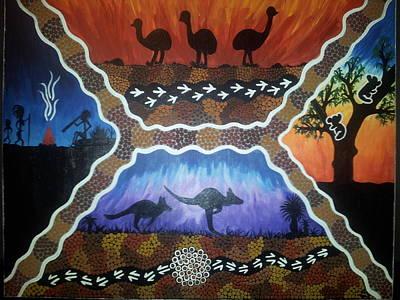 Different Scenes Art Print by Karlie Stewart