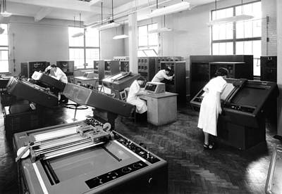 Differential Analyser, 1954 Art Print by National Physical Laboratory (c) Crown Copyright