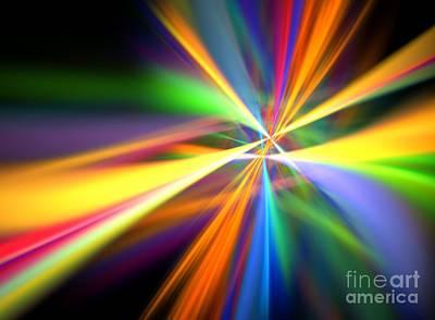 Digital Art - Digital Lightshow by Yali Shi