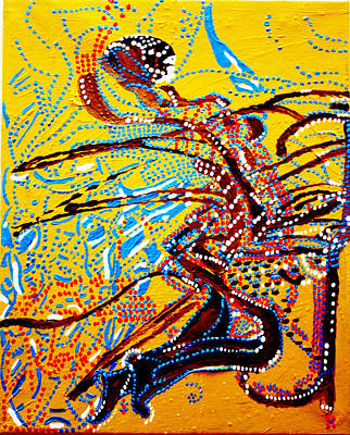 Africa Dinka Painting - Dinka Bride - South Sudan by Gloria Ssali