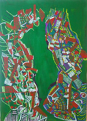 South Sudan Painting - Dinka Marriage by Gloria Ssali