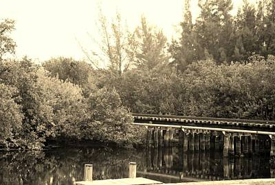 Photograph - Dock On The River In Sepia by Rob Hans