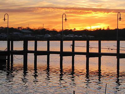 Photograph - Dock Sunset by Clara Sue Beym