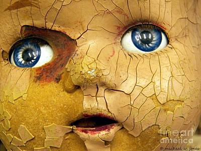 Zombie Photograph - Doll Face by Micheal Jones