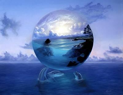 Painting - Dolphin Dreams by David Martorelli