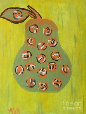 Don't Eat The Pear Art Print by Marie Bulger