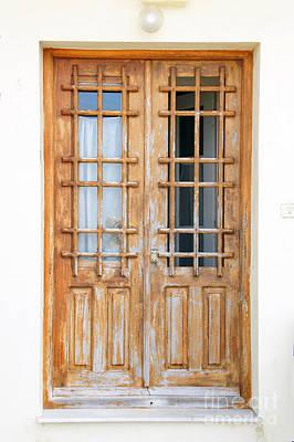 Doors In Greece Art Print by Maria Varnalis