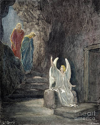 Drawing - Resurrection by Gustave Dore