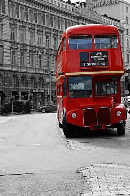 Double Decker Bus Print by Sophie Vigneault