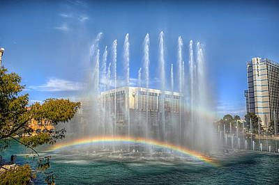 Flamingo Hotel Wall Art - Photograph - Double Rainbow by Stephen Campbell