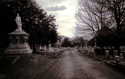 Toy Shop Photograph - Downtown Cemetery by Doug Duffey
